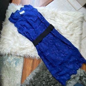 EMILIO PUCCI Blue Lace Belted Dress NWOT